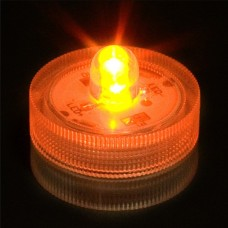 Round Waterproof LED Lights - Amber