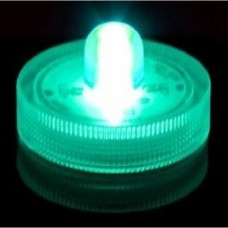 Round Waterproof LED Lights - Green