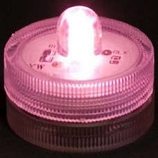 Round Waterproof LED Lights - Pink