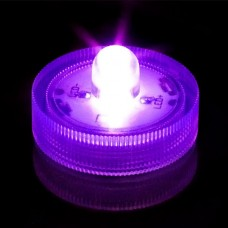 Round Waterproof LED Lights - Purple