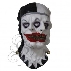Two Face Evil Clown Latex Mask