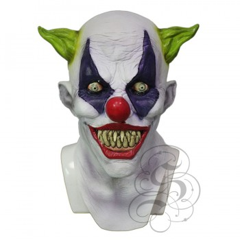 Scary Silly Grin Clown Mask with Chest