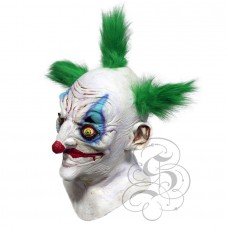 Sinister Killer Clown Mask with Chest