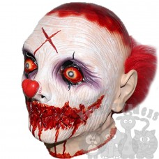 Sinister's Love Clown Mask with Cury Wig