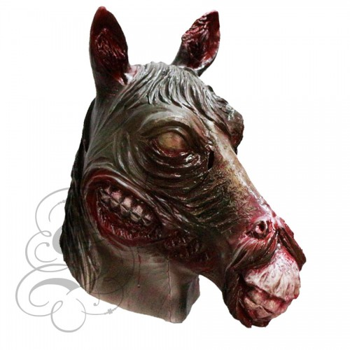 latex zombie horse mask