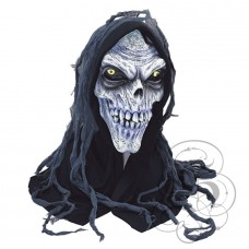 Corpse Skull Latex Mask with Hood