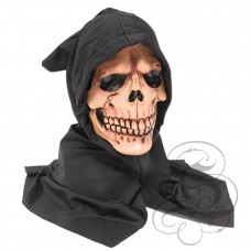 Skull Head Latex Mask with Hood