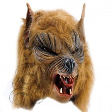 Werewolf Latex Mask ( Brown - Open Mouth)
