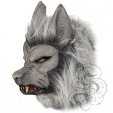 Werewolf Latex Mask ( Grey - Growling )