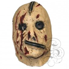 Zipper Face Latex Mask with blood