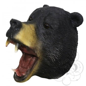 Latex American Bear Mask (Black)