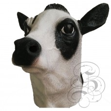 Latex Milk Cow Mask (Black / White)