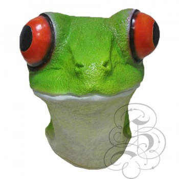 Latex Red-Eyed Frog Mask
