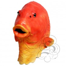 Latex Gold Fish Mask