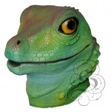Latex Lizard Mask (Green)