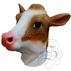 Latex Milk Cow Mask  (Brown/White)