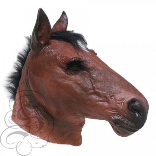 Latex Realistic Horse Mask Animal Overhead Party Mask