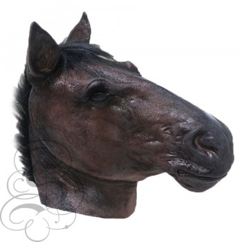 Latex Realistic Horse Mask (Dark Brown)