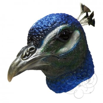 Latex Peacock Bird Mask