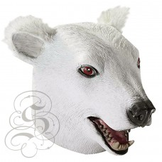 Latex Polar Bear Mask (Open Mouth)