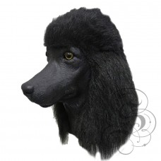 Latex Poodle Dog Mask (Black)
