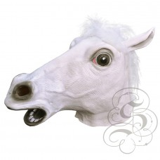 Latex White Horse Mask