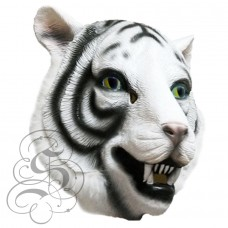 Latex White Tiger Mask