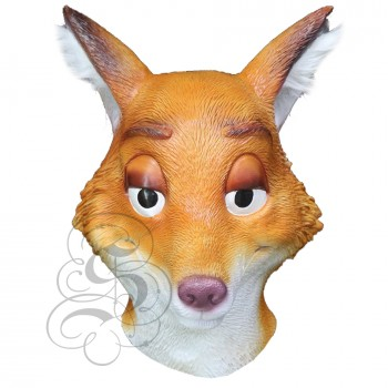Latex Cartoon Fox Mask