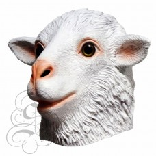 Latex White Sheep Mask