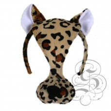 Leopard Plush Mask