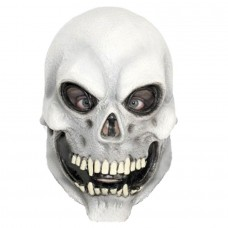 White Skull Head Latex Mask