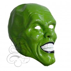 Jim Carrey Green Face Latex Mask