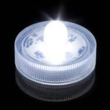 Round Waterproof LED Lights - White