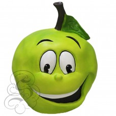Latex Green Apple Fruit Mask
