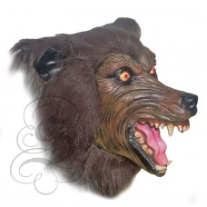 Werewolf Latex Mask (Realistic - Brown)