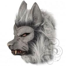 Werewolf Latex Mask ( Grey - Growling )