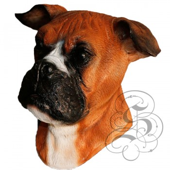 Latex Boxer Dog Mask