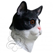 Latex Cat Mask (Black / White)