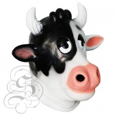 Latex Comical Cow Mask
