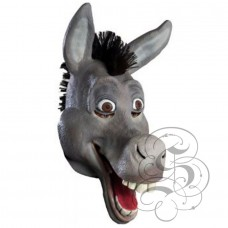 Latex Cartoon Comical Donkey Mask