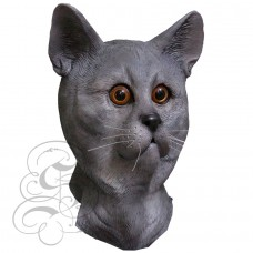 Latex Grey Cat Mask