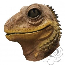 Latex Lizard Mask (Brown)