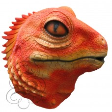 Latex Lizard Mask (Orange)