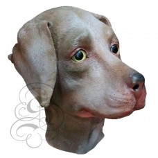 Latex Chocolate Labrador Mask