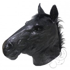 Latex Realistic Horse Mask (Black)