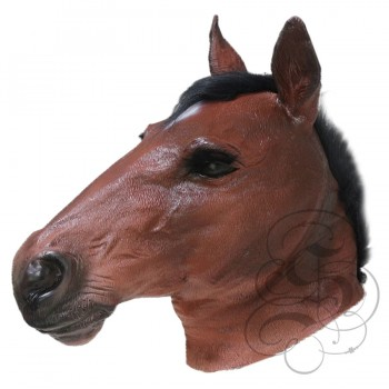 Latex Realistic Horse Mask (Brown)