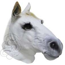 Latex Realistic Horse Mask (White)