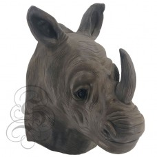 Latex Realistic Rhino Mask