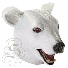 Latex Polar Bear Mask (Open Mouth)
