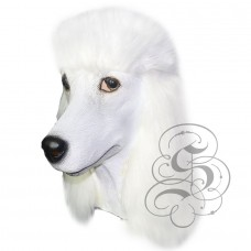 Latex Poodle Dog Mask (White)